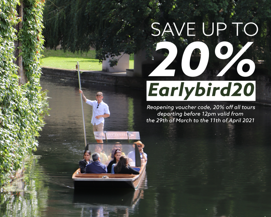 Punting reopening, COVID safe, Punting in Cambridge, Punting Discount Code, Punting Tours, Outdoor activity, Visit Cambridge, Summer punting